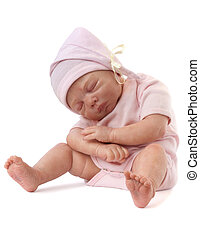 Newborn Baby Doll - Cute baby Doll Angel sitting sleep...