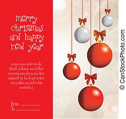Christmas balls - Illustration of Christmas balls and bright...