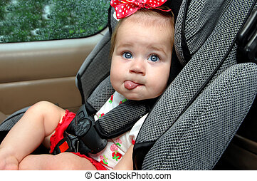 Blaahhh to car seats - Infant expresses her dislike for...