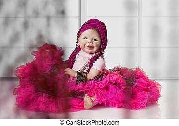 Fashion Baby Doll - Relaxed Baby Doll with Tutu sitting on...