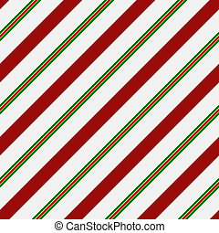 Red, Green and White Striped Fabric Background that is...