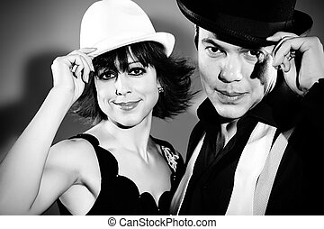 cabaret duo - Couple of professional singers in retro style...