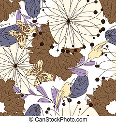 Seamless floral - Seamless vector floral pattern. For easy...
