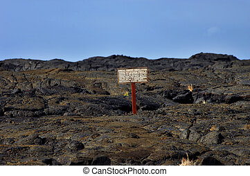 Area Restricted No Fishing - Hawaii Volcanoes National Park...