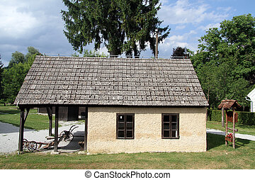 Farmhouse in village - Old traditional farm house in...