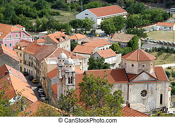 Roofs of Skradin - Roofs of town Skradin in Croatia