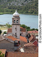 Bell tower - High bell tower in Skradin, Croatia
