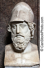 Herm of Pericles, Roman copy of the original by Kresilas
