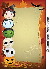 Halloween background - A vector illustration of Halloween...