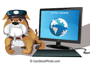 Internet or computer security - A vector illustration of...