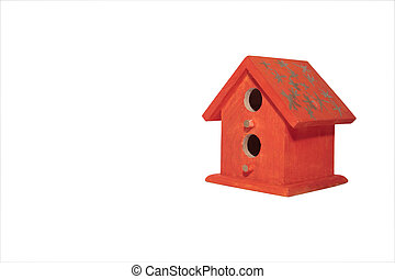 bird house 1 - a bird house in isolation with a clipping...