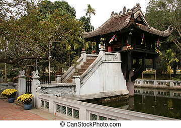 One Pillar Pagoda, Hanoi - One Pillar Pagoda in Hanoi City,...