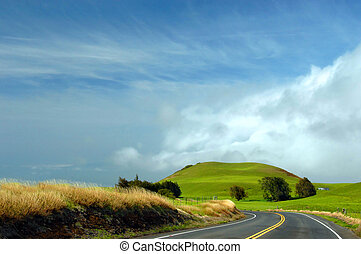 Curving Upcountry Big Island - Upcountry on the Big Island...