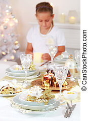 Christmas place setting - Luxury Christmas place setting...