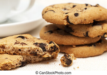 chocolate chip cookies - Close-up of chocolate chip cookies