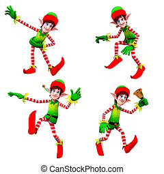 DAncing elves - 3d art illustration of DAncing elves