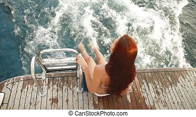Enjoying The Cruise on Luxury Yacht