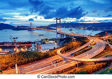 Tsing Ma Bridge sunet