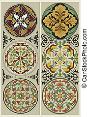 Flower Mandalas - Traditional ornat - Traditional Russian...