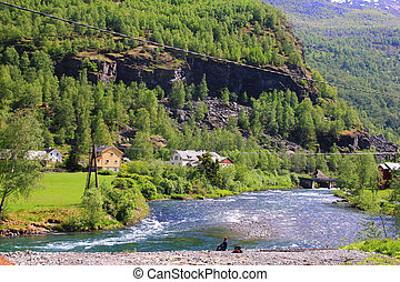 Flam, NOrway - Beautiful Norwegian Landscape taken at Flam...