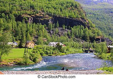 Flam, NOrway - Beautiful Norwegian Landscape taken at Flam...