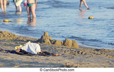 Photograph of a sandcastle - Sandcastle on the beach....