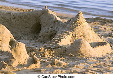 Photograph of a sandcastle - Sandcastle on the beach...