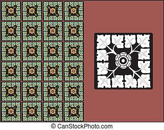 Vector - A Floral Pattern