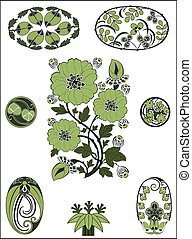 Art Nouveau - flower pattern