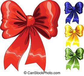 Color festive Christmas bow