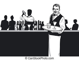 Waiters and Bartender