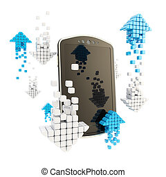Online stock trading concept illustration - Online stock...