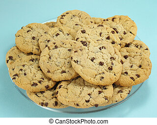 Cookie Platter - Chocolate chip cookies, still warm and...