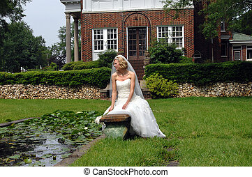 Ambiance and Bride - Bride sits surrounded by beautiful...