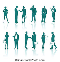 Business people silhouettes