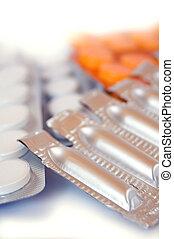 píldoras, supositorios, O