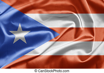 Bandera de Puerto Rico - Flags waving in the wind....