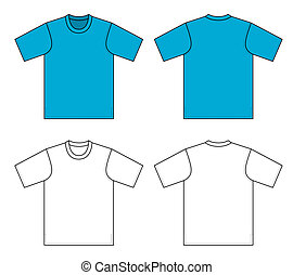 T-shirt vector illustration - Outline t-shirt vector...