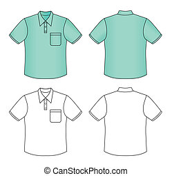 Polo shirt - Outline polo shirt vector illustration isolated...