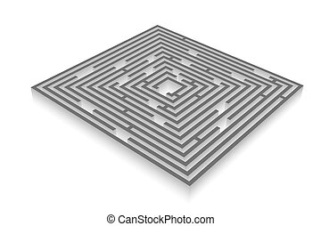 Labyrinth - Abstract image of the maze - labyrinth