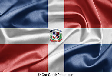 Flag of Dominican Republic - Flags waving in the wind...