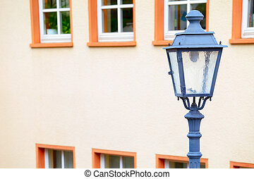 Street lamp in small city Saarburg, Rheinland-Pfalz,...