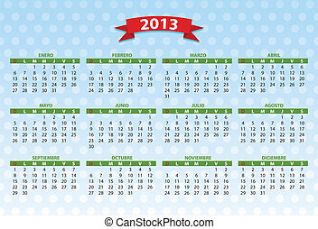2013 spanish calendar