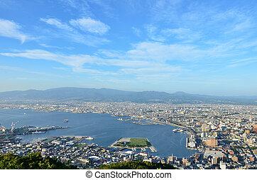 Daytime view of Hakodate, Hokkaido, Japan