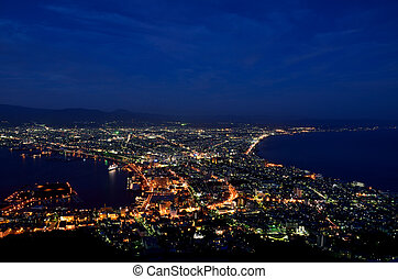 Night view of Hakodate, Hokkaido, Japan.