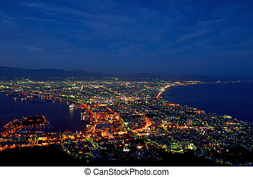 Night view of Hakodate, Hokkaido, Japan