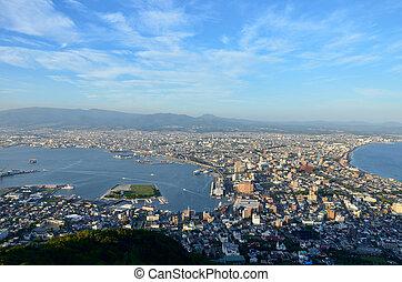 Daytime view of Hakodate, Hokkaido, Japan.