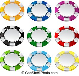 Gambling chips vector set 1