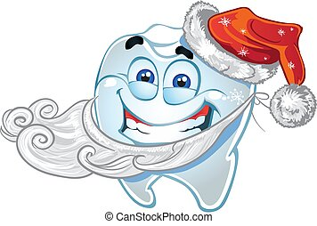 Teeth in suit Santa Claus