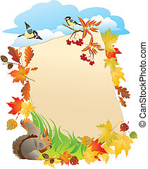 background with Autumn Leafs - Vector background with...
